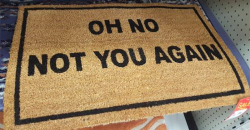 15 Unwelcome Mats That Will Stop Visitors in Their Tracks