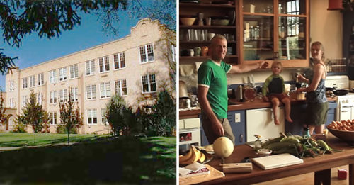 A Couple Bought An Abandoned High School, Renovated It, And Moved Right In